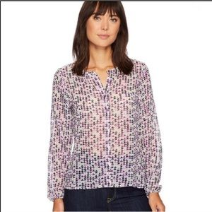 Ariat Patterned Long Sleeve Lily Blouse XSmall